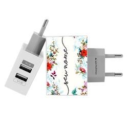 Carregador Personalizado iPhone/Android Duplo USB de Parede Gocase - Jardim Vintage