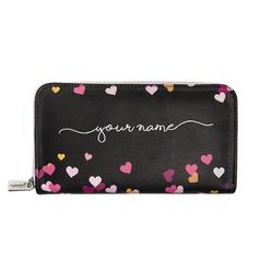 Custom Wallet - Floating Hearts