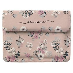 Case Clutch Notebook Personalizada - Bem Floral Manuscrita