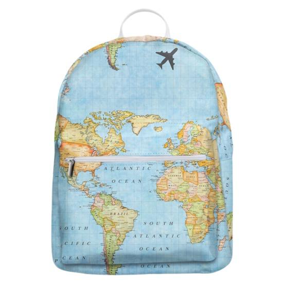 Mochila Gocase Bag Personalizada - Mapa Mundi Manuscrita