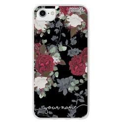 Vintage Flowers - Black Phone Case