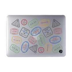 Laptop Case MacBook - Passport Stickers
