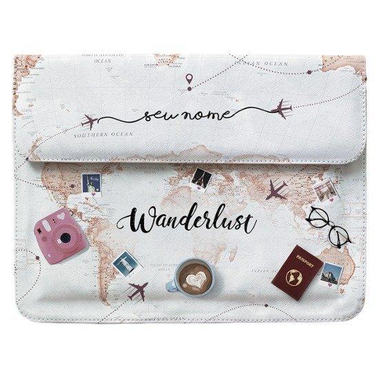 Capa para Notebook Personalizada - World Trip Manuscrita