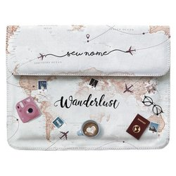 Case Clutch Notebook Personalizada - World Trip Manuscrita