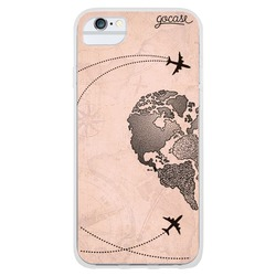 BFF - World Map Heart Vintage (left) Phone Case