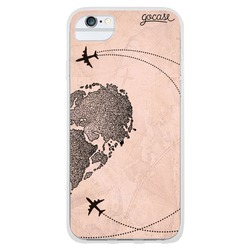 BFF - World Map Heart Vintage (right) Phone Case