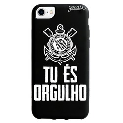 Capinha para celular Color Black - Corinthians - Color Black - Tu és Orgulho