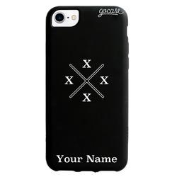 Black Case - Crossed Initials Phone Case