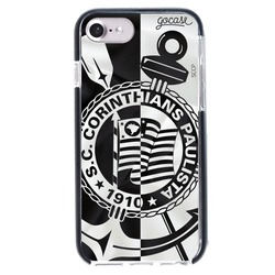 Capinha para celular Anti-Impacto PRO Corinthians - Black and White