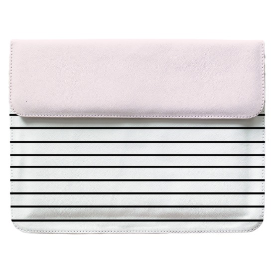 Case Clutch Notebook - Linhas Tricolor Manuscrita