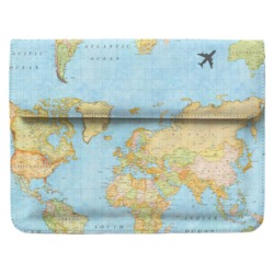 Case Clutch Notebook - Mapa Mundi Manuscrita