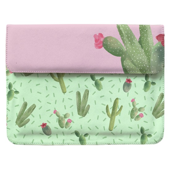 Case Clutch Notebook - Cactos Manuscrita