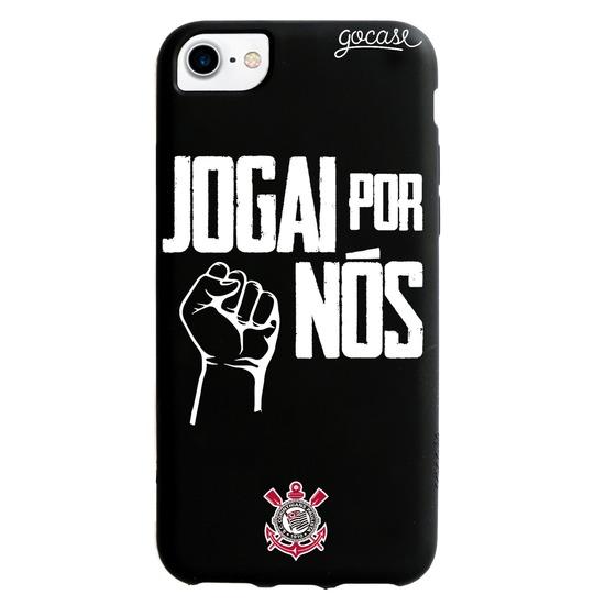 Capinha para celular Color Black - Corinthians - Jogai por Nós