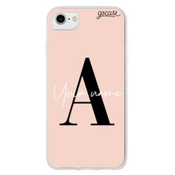 Coque Fancy Initials Rosé