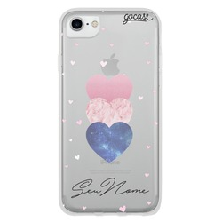 Capinha para celular Fancy Hearts Clean Customizável