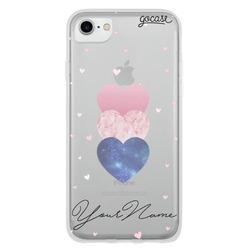 Fancy Hearts Clean Customizável Phone Case