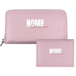 Carteira Saffiano Personalizada - Pink Basic - Stylish