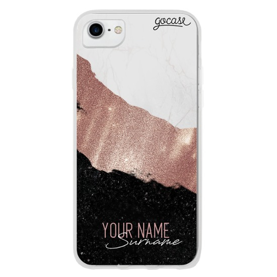 Glamour Tricolor Customizable Phone Case