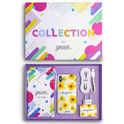 Kit Sunflower Handwritten (Case + wall charger + cable + collection box)