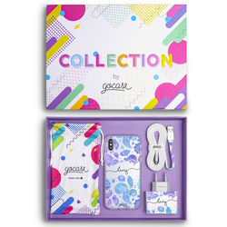 Kit Purple Handwritten (Case + wall charger + cable + collection box)