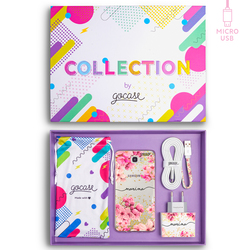 Kit Rosegold Handwritten (Samsung Case + wall charger + cable Micro USB + collection box)