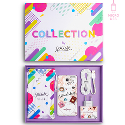 Kit Wanderlust (Samsung Case + wall charger + cable Micro USB + collection box)