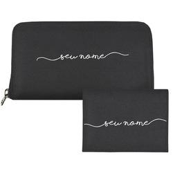 Carteira Saffiano Personalizada - Black Basic - Manuscrita