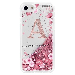 Glitter Flow - Cherry Petals Initial Glitter Phone Case