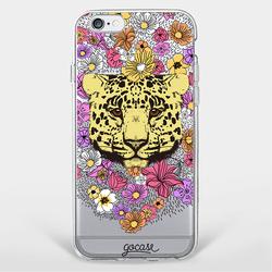 Capinha para celular Leopardo Flor