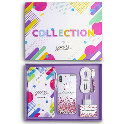 Kit Floating Hearts Handwritten (Case + wall charger + cable + collection box)
