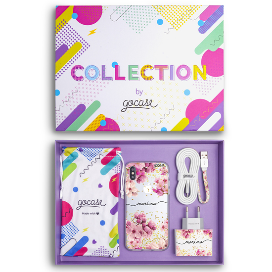 Kit Rose Gold Handwritten (Case + wall charger + cable + collection box)