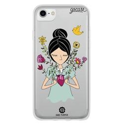 Capinha para celular Coração Florido