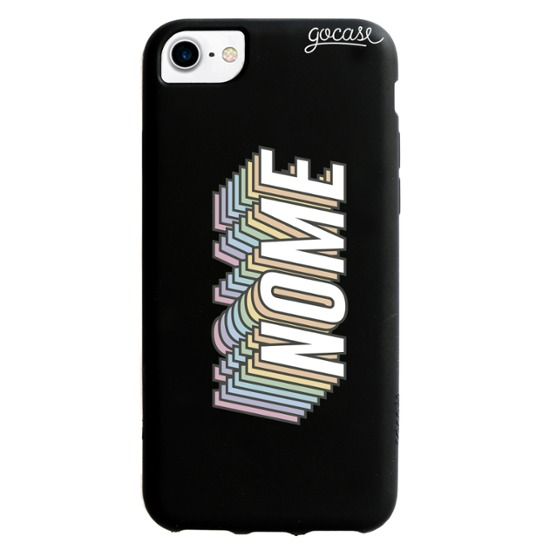 Capinha para celular Color Black - Nome Rainbow