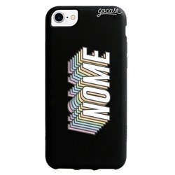 Capinha para celular Color Black - Nome Rainbow
