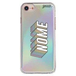 Capinha para celular Holo - Nome Rainbow