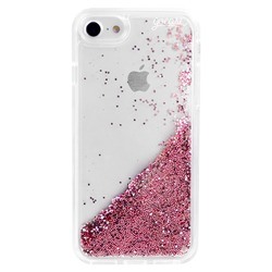 Glitter Flow - Clear Case Logo White Phone Case