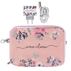 Kit Bem Floral (Cabo iPhone Lightning + Carregador Duplo + Porta Acessórios)