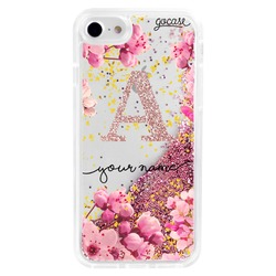 Glitter Flow - Rose Gold Initial Glitter Phone Case