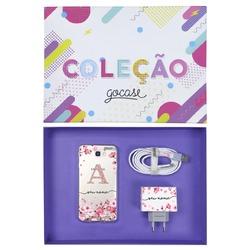 Kit Pétalas de Cerejeira (Case + Cabo Micro USB  + Carregador Duplo + Caixa Minha Coleção)