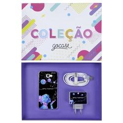 Kit Poeira das Estrelas (Case + Cabo Micro USB  + Carregador Duplo + Caixa Minha Coleção)