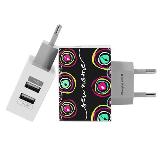 Carregador Personalizado iPhone/Android Duplo USB de Parede Gocase - Rock in Rio - Dia de Rock