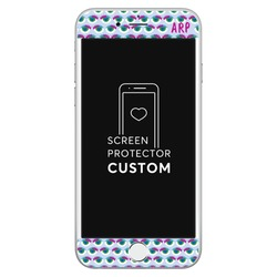 Blue Eyes Pattern - White Screen Protector - Tempered Glass