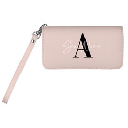 Carteira Soho Personalizada - Pink Basic - Iniciais Fancy