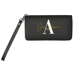 Carteira Soho Personalizada - Black Basic - Iniciais Fancy