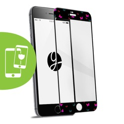 Floating Butterflies Black Screen Protector - Tempered Glass