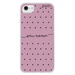 Capinha para celular Black Dots Pink Manuscrita