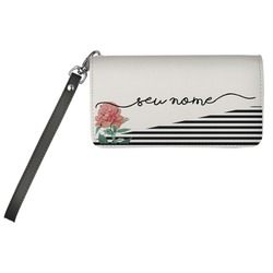 Carteira Soho Personalizada - Flor Listrada Manuscrita
