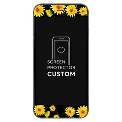 Sunflower Black Screen Protector - Tempered Glass