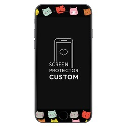 Cat Faces Black Screen Protector - Tempered Glass