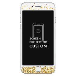 Gold Dots White Screen Protector - Tempered Glass